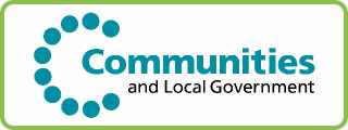 Department for Communities and Local Government Button